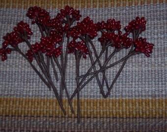4.5 inch red berry cluster picks,deep red.16/pkg,crafts,florals,embellishment