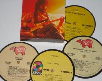 ERIC CLAPTON Coasters, vinyl record drink coasters
