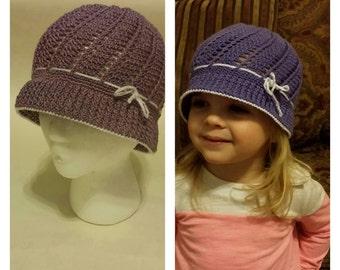 Crochet Panama (Cloche) hat