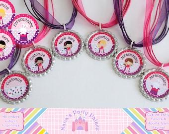 Magic Party Favors - Magic Birthday - Magic Theme Necklace - Set of 6 - Magician Party - Kids Magic Theme Party - Circus Theme