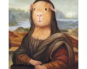 Guinea Pig Canvas Art Prints, Mona Lisa, Guinea Pig Costumes