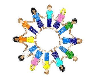 Children embroidery design