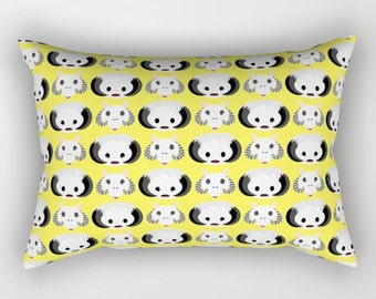 Wampas and Tauntuans on Yellow Rectangular Pillow with Insert