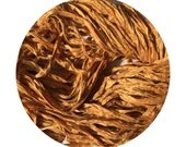 Hand dyed, recycled sari ribbon - Old Gold: OOAK