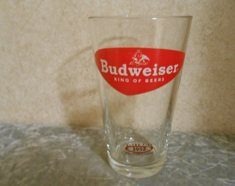 1950's Budweiser Retro Pint 1952 Collector's Series Tumbler
