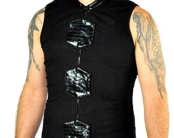 Cryoflesh Paragon Gothic Industrial Cybergoth Futuristic Cyberpunk Brning Man Apocalyptic Co Top Male