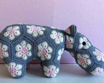 Gray and pink Happypotamus