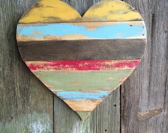 Rustic Reclaimed Wood Heart