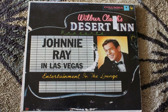 David Jones Personal Collection Record Album - Johnnie Ray - In Las Vegas - Wilbur Clark's Desert Inn Presents Entertainment In The Lounge