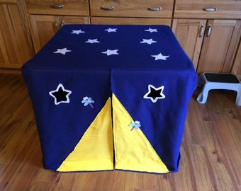 Card Table Playhouse Camping Fun