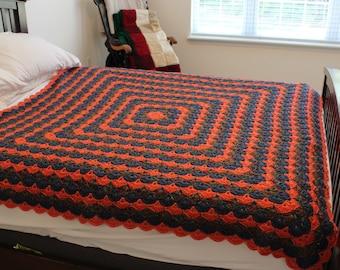 Hand Crochet Afghan My Picot design