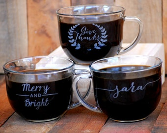 Wedding Favor Coffee Mugs, Wedding Reception, Guest Gifts, Coffee Cups, Wedding Favors Rustic, Personalized Mugs, Winter Wedding, Coffee Bar
