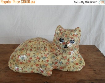 Vintage Homemade Flower Cat