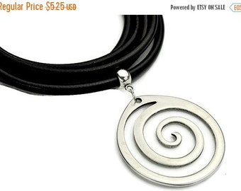 30% OFF Spiral Necklace/Pendant - Antique Silver - Highe Quality Metal Casting - Qty. 1