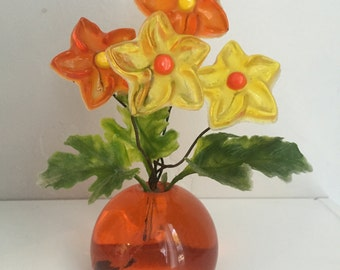 Vintage 1969 Resin Flower Sculpture from New Designs Inc.