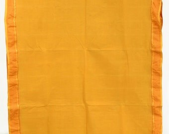 Vintage Indian Pure Cotton Sandy Brown Fabric Saree Crafting Drapery Sari TP3718