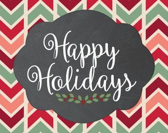 Happy Holidays 8X10
