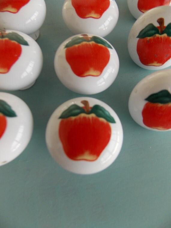Apple Knobs Ceramic Large Supply Screws