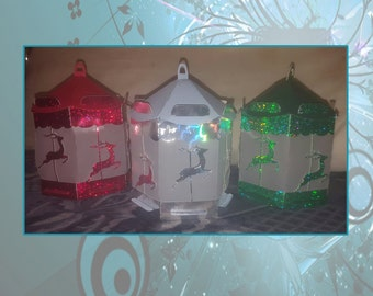 Set of Three Reindeer Lanterns