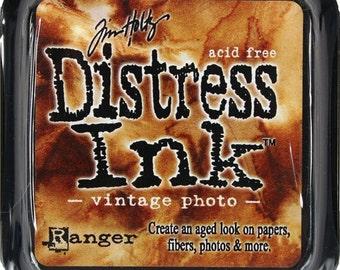 Tim Holtz distress ink vintage photo