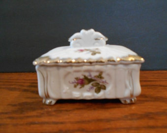 Hand Painted Pacific Rose Jewelry/Trinket Box
