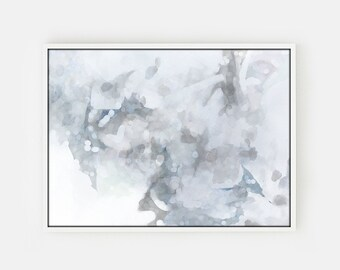 Gray Wall Art Print, Large Abstract Painting Print Gray Art Canvas, Gray Abstract Art Print, Abstract Canvas Art Gray and White Wall Art