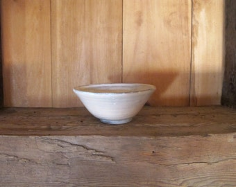 Handmade Wheel Thrown Stoneware Bowl