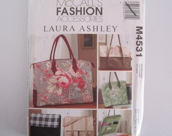 Uncut McCalls 4531 Business Bags By Laura Ashley Sewing Pattern, Laura Ashley, McCalls 4531 Business Bags Uncut sewing Pattern