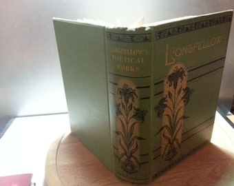 Longfellows Poetical works, Poems by Henry Wadsworth Longfellow, vintage hardback book