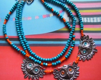 Timeless necklace with ouwls