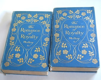 Antique Pair of Books, The Romance of Royalty