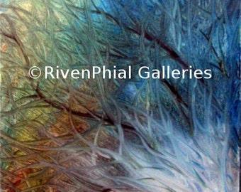 "Abstract Wall Art Giclee Print of Original Oil Painting ""Neuron 13 - Firing"""