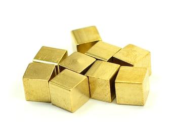 20 Pcs . Raw Brass 6x6 mm Square Blanks Bar Findings