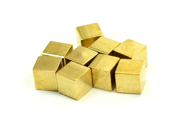 20 Pcs Raw Brass 6x6 Mm Square Blanks Bar Findings From