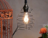 Custom Listing for Kathy, 2 bird cage pendant lights