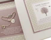 Christening jewellery with tree of life and engraved 925 Silver
