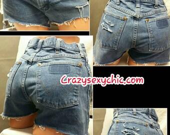 High Waist Cutoff Shorts Women's size 7 or 29 waist distressed