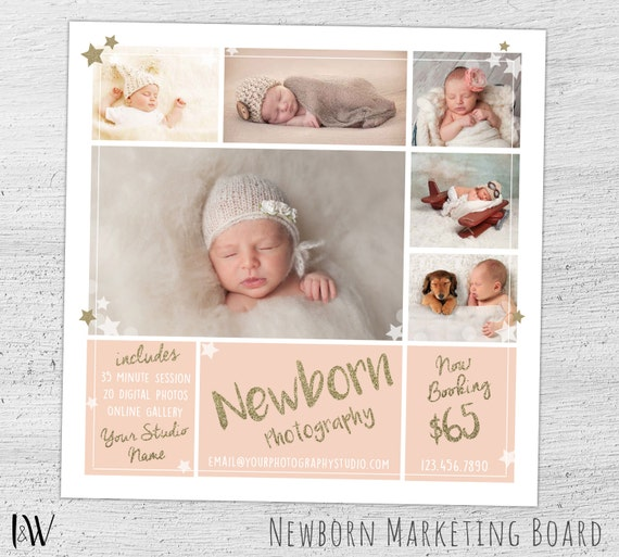 Newborn Photography Marketing Board Newborn Mini Session