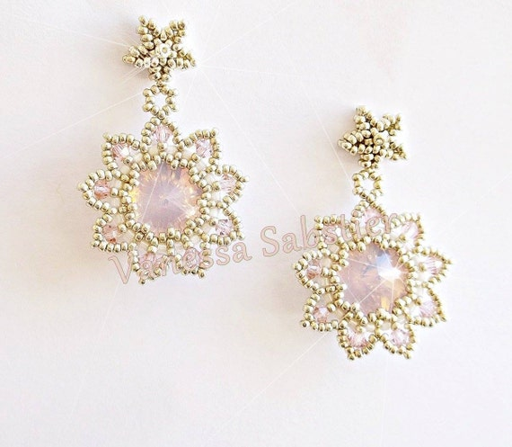 PATTERN - Earrings StarLuxury Rose