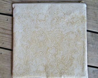 Zip Pouch in Antique White (Large)