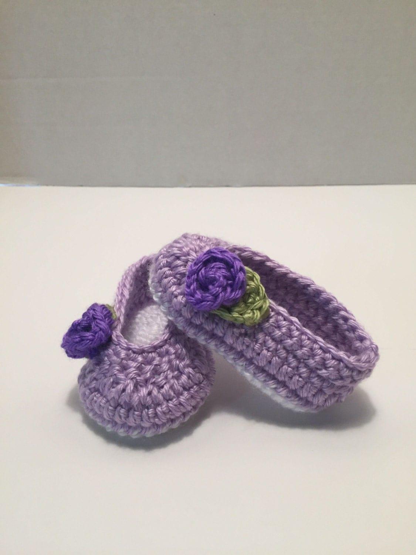 Crochet Baby Ballet Shoes Pattern : Crochet baby booties ballet slippers