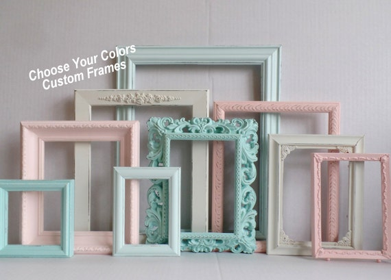 picture frames custom choose your colors custom frame collection ornate distressed frames gallery wall wedding nursery frame set from - Distressed Frames