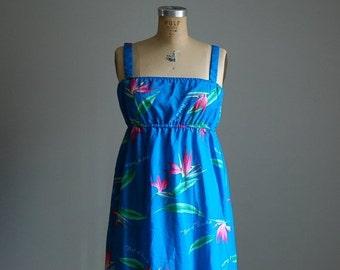 SPRING SALE / 20% OFF... vintage 1970s sky blue maxi dress / bohemian summer dress