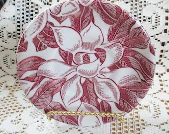 VIntage 1950 Tepco Restaurant ware, Magnolia Saucer - Cranberry color - Estate find!
