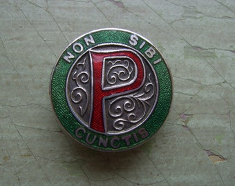 An Antique/Vintage Prefect Badge/Pin - Enamel & White Metal - Circa 1920's-1930's.