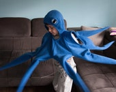 Octopus Costume, Blue Octopus Halloween Costume, Party Costume, For Boys or Girls, Toddler Costume