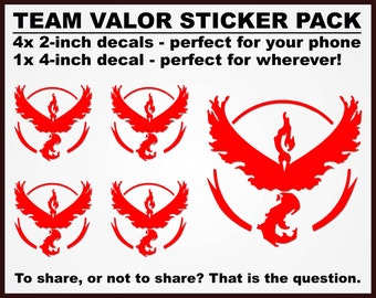 Pokemon Go - Team Valor Sticker Pack