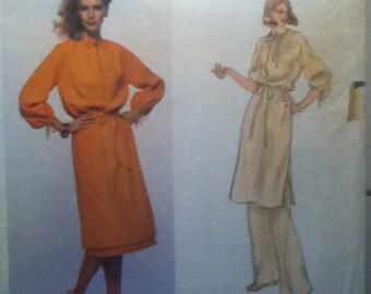 """Vogue Vintage Paris Original Tunic, Skirt & Pants Pattern 1708  Size: 14, Bust 36"""", Waist 28"""", Hip 38"""""""