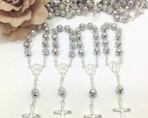 10%off weekend sale 45 pcs Decade mini rosaries, Baptism favors, wedding, First communion favors Recuerditos Bautizo / Mini Rosary Baptism F
