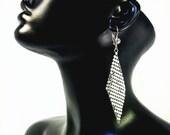 Classic Disco Earring | Light Weight Earrings | Statement Jewelry | Silver Metal Mesh Earrings | Metal Dangle Drop Earring